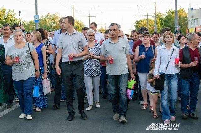 Патриотическая акция «Свеча памяти» объединила 7 тысяч оренбуржцев.