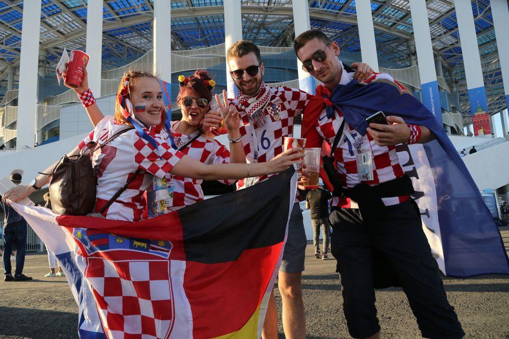 Хорваты в Нижнем Новгороде отпраздновали победу своей команды