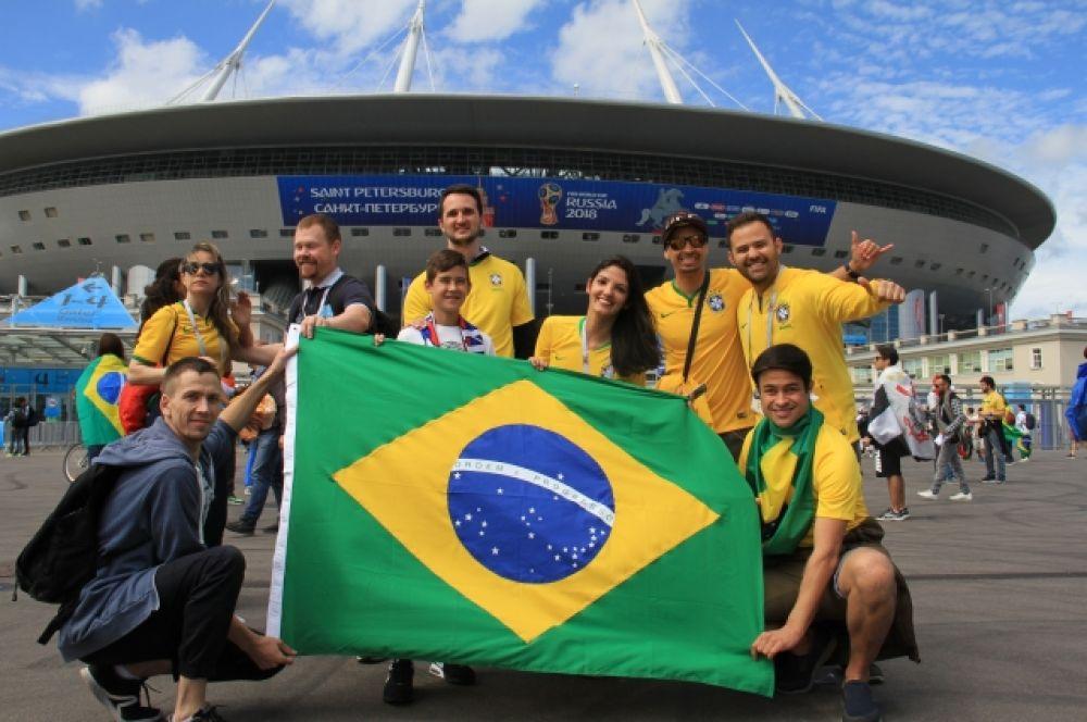 Бразильцы верят в победу своей сборной.