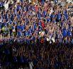 Больше всего на матч пришло болельщиков сборной Исландии - страна известна массовой поддержкой своей команды.