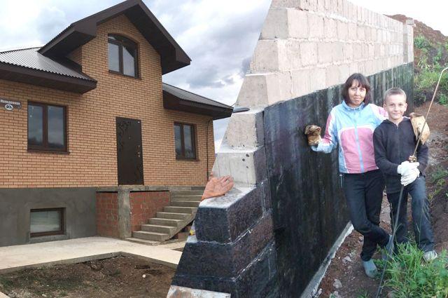 Этот дом Калинины построили на средства маткапитала, но жить в нем не могут.