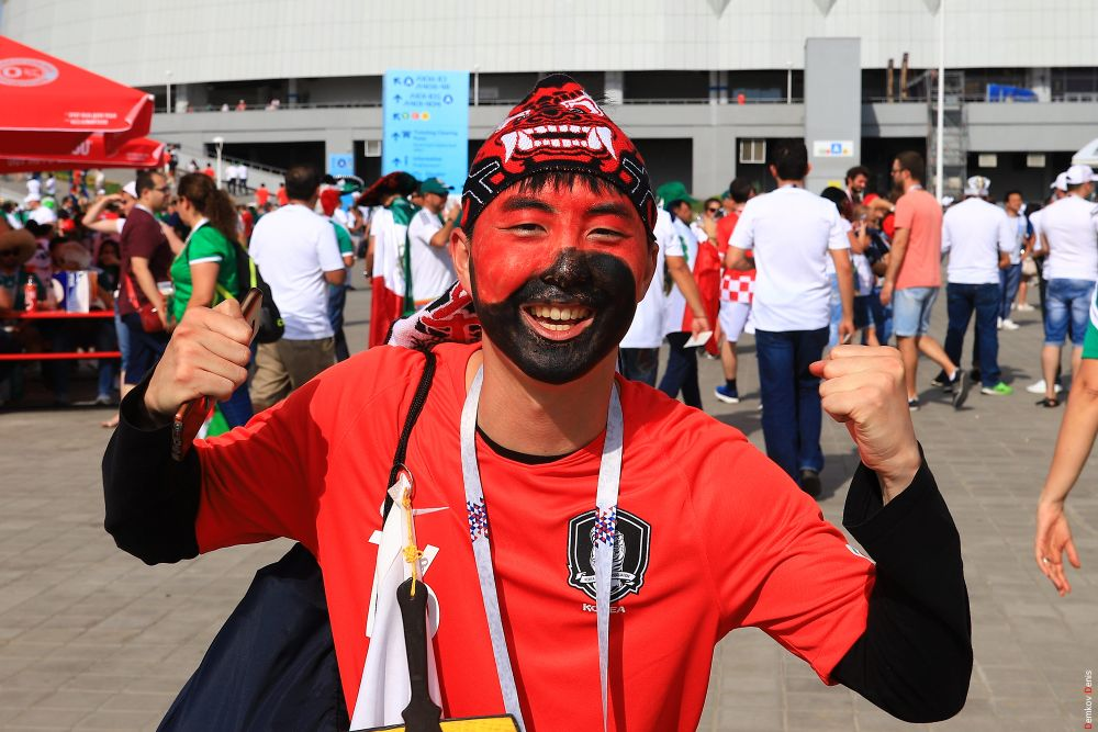 Фанат южнокорейской команды.