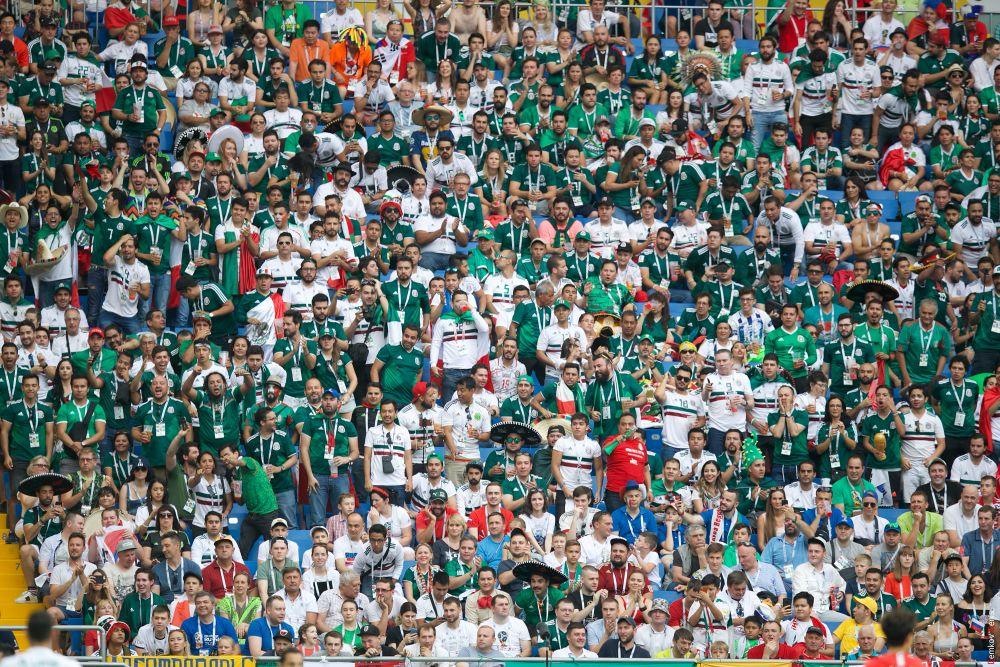 Порядка 10 тысяч мексиканских болельщиков на трибунах стадиона «Ростов-Арена».