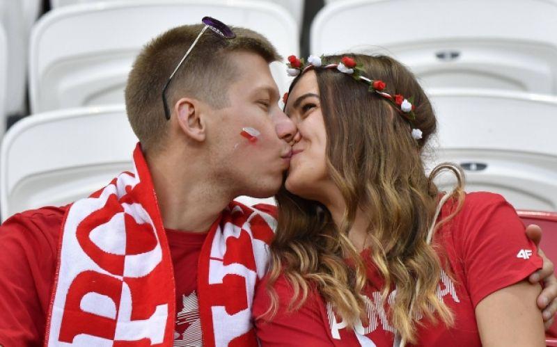 Поцелуй пары из Польши.