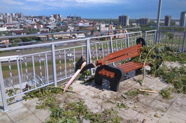 Объекты Нагорного парка разрушены