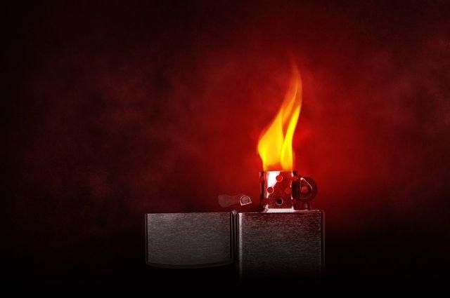 В Харпе на первом этаже жилого дома горел бывший магазин