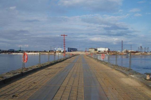 Монтаж моста через реку Пур вышел на финальную стадию