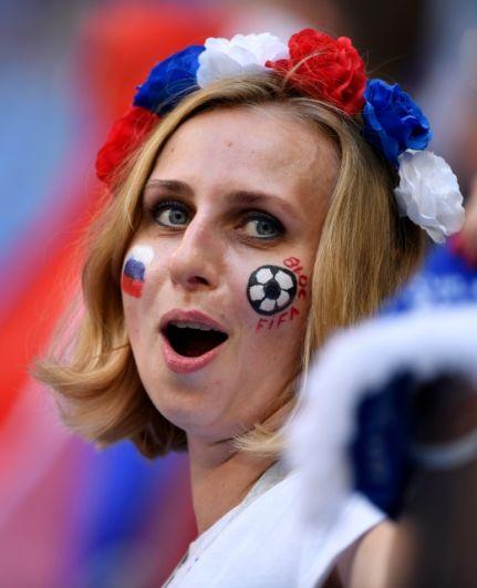 В начале встречи российские болельщики были полны надежд.