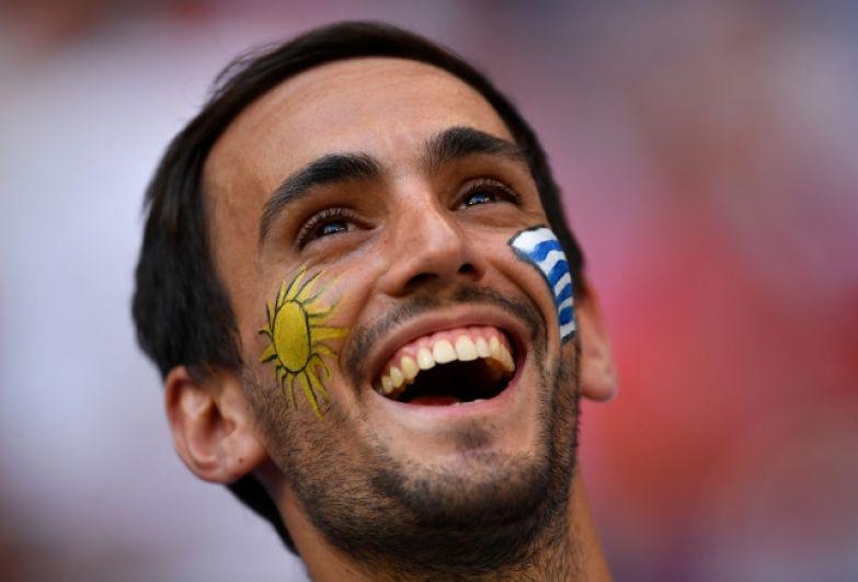 Болельщики сборной Уругвая не скрывали своей радости.