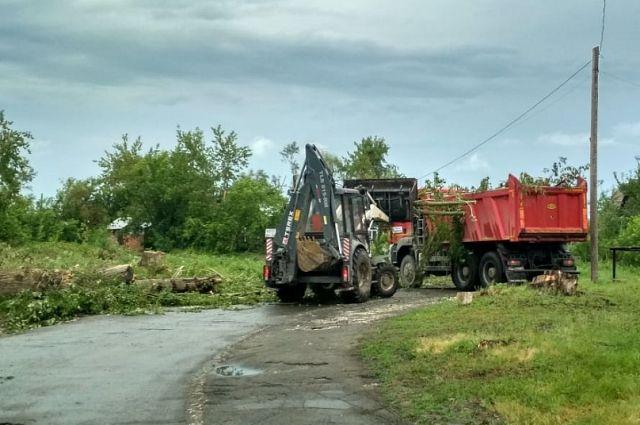 Ликвидация последствий урагана в Затоне
