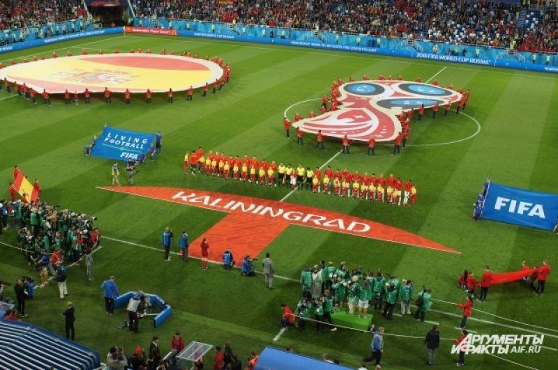 За три матча на «Стадионе Калининград» побывали порядка 100 тысяч болельщиков. Матч сборных Испании и Мароккло посетило рекордное количество фанатов.