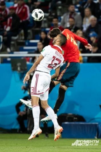 Матч сборной Испании и Марокко.
