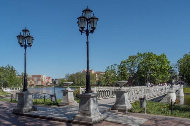 Калининградцы выбрали названия для пяти мостов на пруду Верхнем.