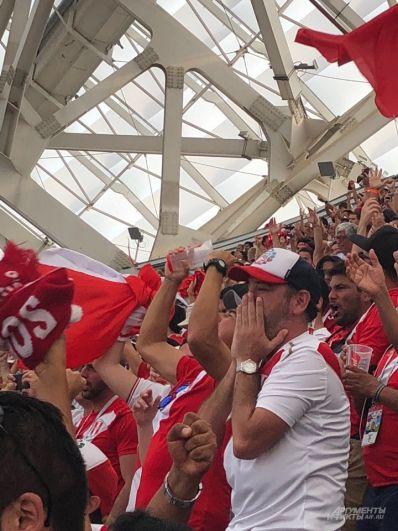 Фанаты из Перу крайне эмоционально воспринимают всё, что происходит на поле.