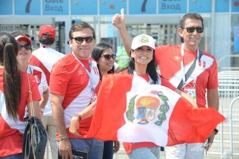 Латиноамериканцев на стадионе оказалось в два раза больше, чем австралийцев.
