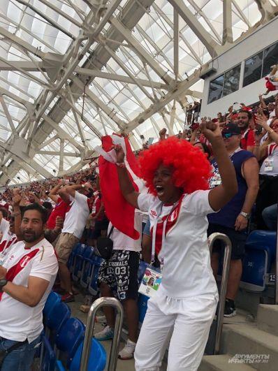 Несмотря на то, что сборная Перу не фаворит, фанаты верят в свою команду.