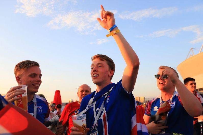 Исландская молодёжь в футбольной столице Дона.