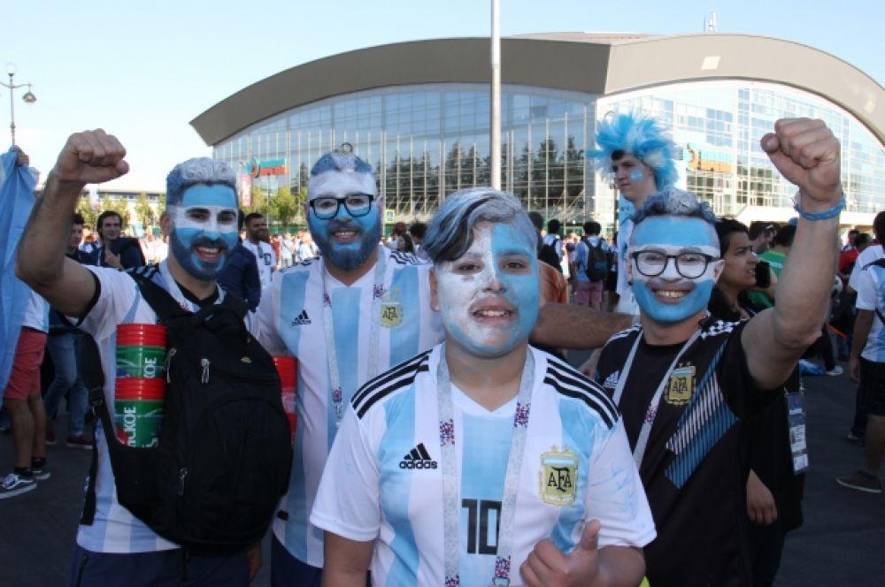 Болельщики сборной Аргентины не сомневались, чо их команда победит.