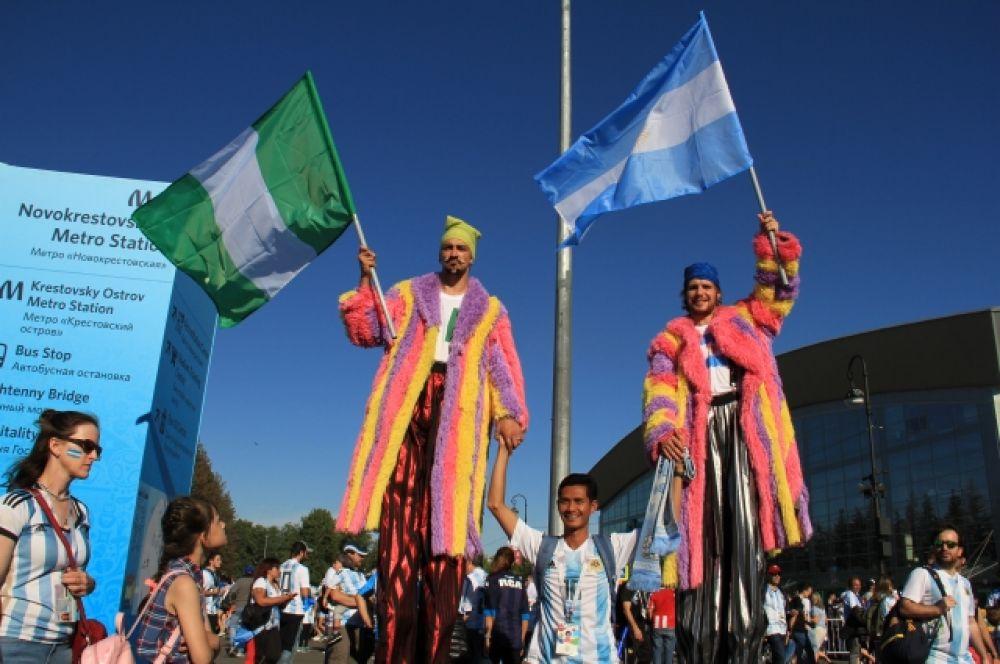 Сборная Аргентины победила Нигерию со счетом 2:1.