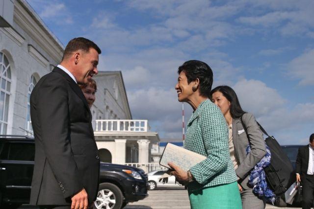 Губернатор Свердловской области Евгений Куйвашев встретил принцессу японского императорского дома Хисако Такамадо