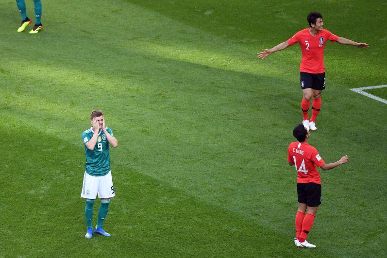 Первый год забили на 90-й минуте матча - в ворота действующих чемпионов. Корейцы ликуют, немцы хватаются за головы.