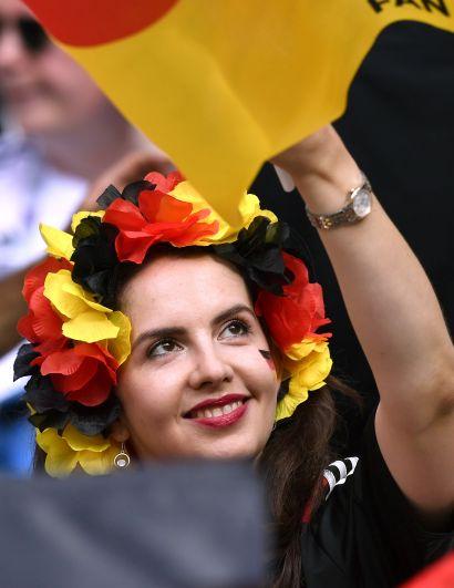 Немцы - в целом сдержанные болельщики.