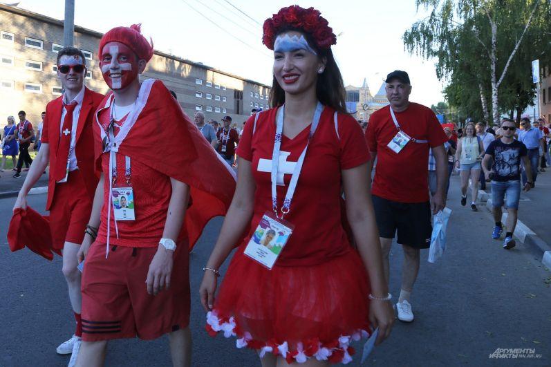 Марш болельщиков в Нижнем Новгороде