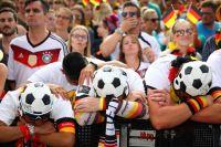 Болельщики сборной Германии.