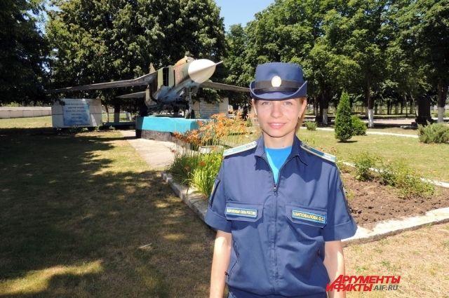 Курсантка Ольга Шиповалова из города Бутурлиновки Воронежской области.