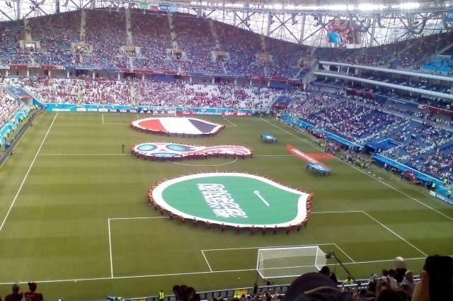 Дети решили поддержать футболистов.