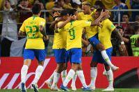 Игроки сборной Бразилии.