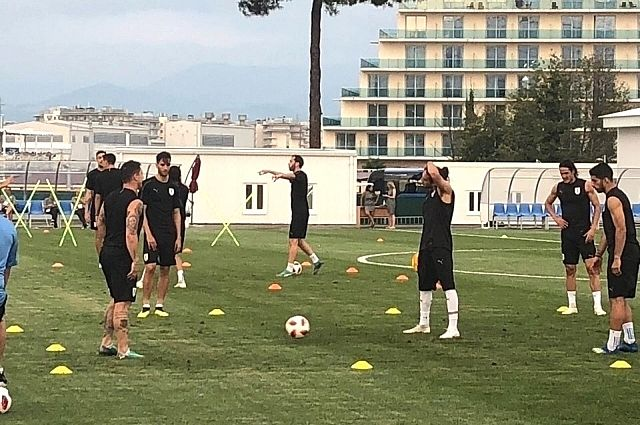 Тренировка сборной Уругвая в Сочи.