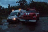 В Киеве от удара молнии воспламенился дом