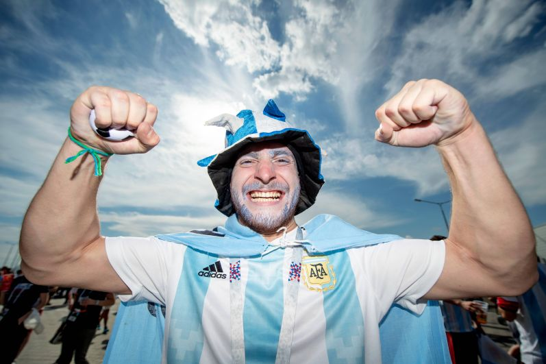 Фанатов сборной Аргентины было в Казани больше.