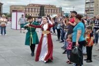 Тюменскую молодежь удивляли народными танцами