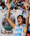 Традиционно болельщики Аргентины приносят на стадион разнообразные плакаты.