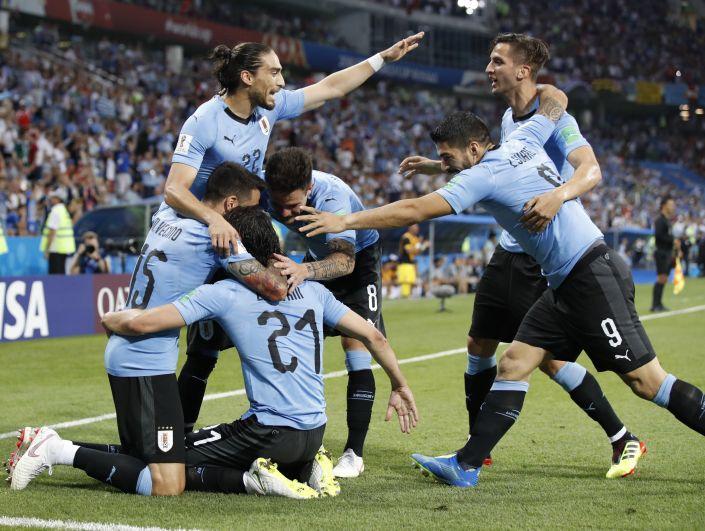 Сборная Уругвая забила свой второй мяч в ворота соперника на 62 минуте матча.