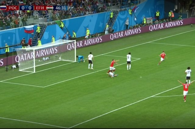 Кузбасские горняки своими глазами увидели все голы матча между сборными России и Египта.
