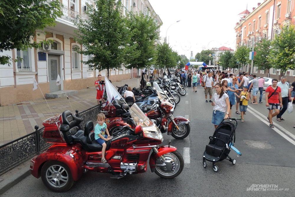 Выставка мотоциклов.