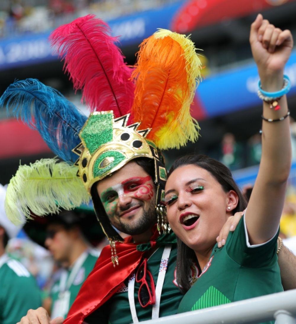 А у этой девушки в цвета мексиканского флага раскрашены ресницы.