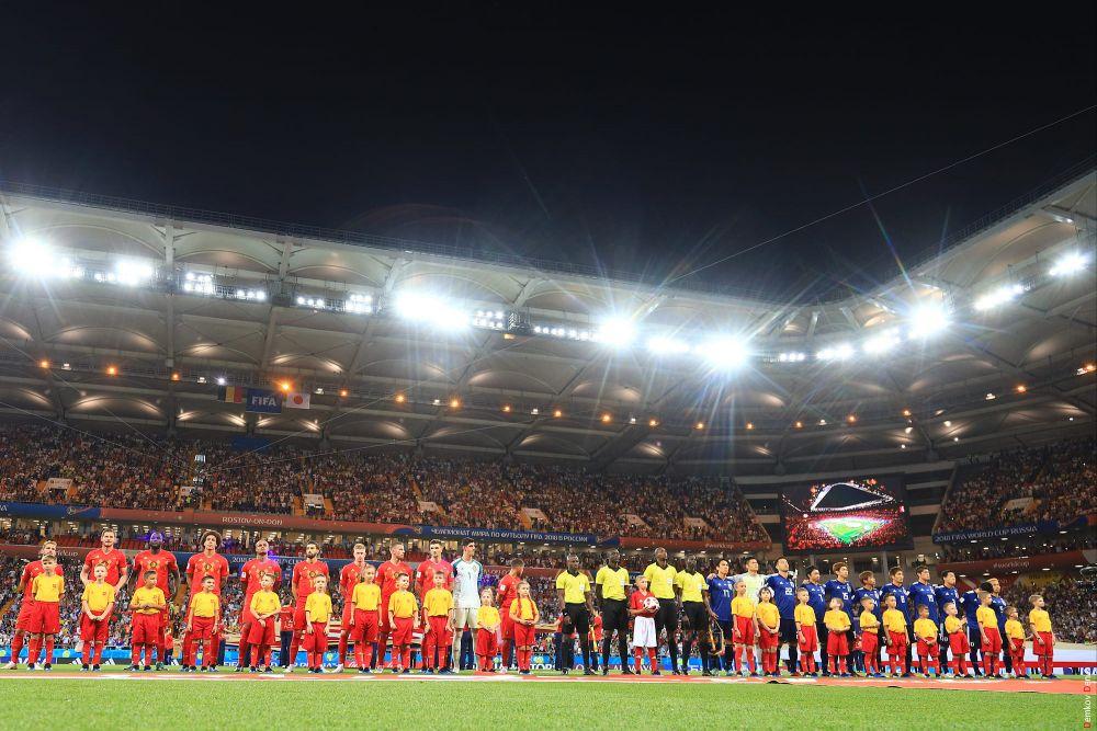 Соперники перед началом игры.