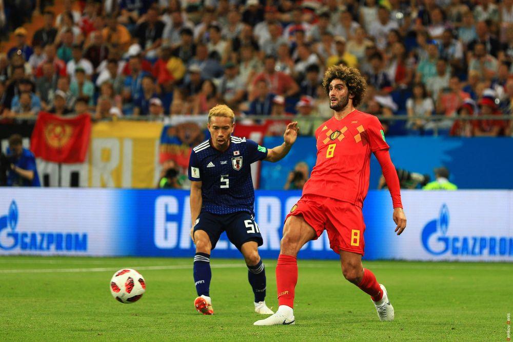 Защитник Юто Нагатомо и хавбек Маруан Феллайни, вышедший на замену и сравнявший счёт в матче - 2:2.