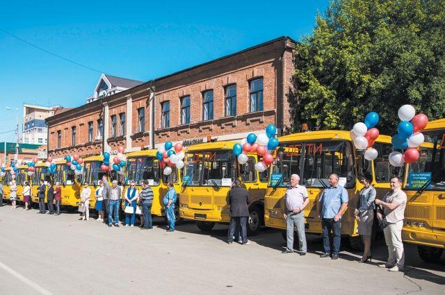 Новые школьные автобусы закупили в регионе на сумму около 43 млн рублей.