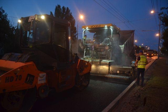 В центре Оренбурга ночью будут ремонтировать дороги.