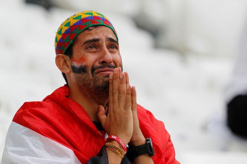 Египетский болельщик после матча с Саудовской Аравией в Волгограде.