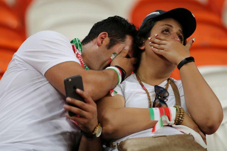 Иранские фанаты после поражения от Португалии в Саранске.