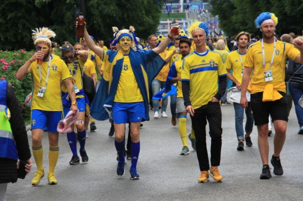 Болельщики устроили шествие перед матчем.