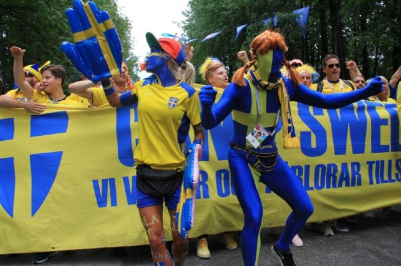 Шведы подготовили настоящий перформанс.