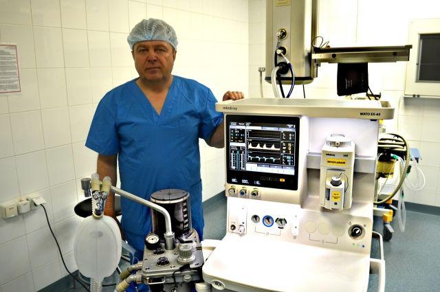 Новый наркозный аппарат появился в Губкинской городской больнице