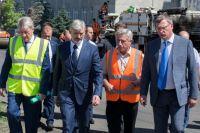 Проинспектировал ремонт проспекта Маркса федеральный министр.